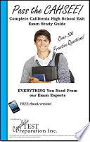 Pass the Cahsee  Complete California High School Exit Exam Study Guide