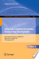 Advances in Applied Economics  Business and Development
