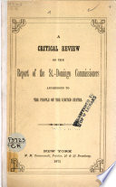 A Critical Review of the Report of the St.-Domingo Commissioners