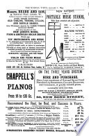 The Musical Times and Singing class Circular