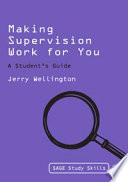 Making Supervision Work for You