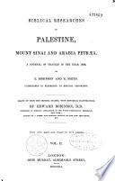 Biblical researches in Palestine