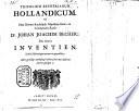 Trifolium Becherianum Hollandicum. Of ... J. J. Bechers drie nieuwe inventien, etc
