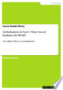Globalization in Foer s How Soccer Explains the World