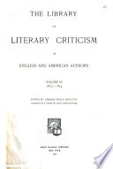 Library of Literary Criticism of English and American Authors