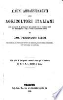 Alcuni aennaestramenti agli agricoltori italiani sulla necessita di proteggere gli animali che si rendono utili col distruggere i topi  i oermi e gl insetti nocivi