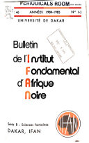 Bulletin. Serie B: Sciences humaines
