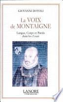 La voix de Montaigne