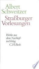 Strassburger Vorlesungen