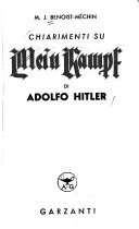 Chiarimenti su Mein Kampf di Adolfo Hitler