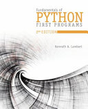 Fundamentals Of Python First Programs
