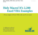 Holy Macro  It s 2 200 Excel VBA Examples