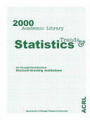 2000 Academic Library Trends and Statistics for Carnegie Classification