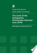Hc 712 The Work Of The Immigration Directorates January June 2014