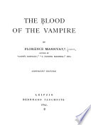 The Blood of the Vampire Book PDF