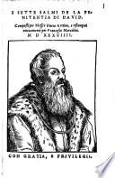 I Sette Salmi De La Penitentia Di David