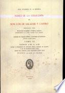 Índice de la colección de don Luis de Salazar y Castro. Tomo IX.