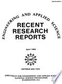 Recent Research Reports