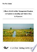 Effects of Soil Fertility Management Practices on Nutrient Availability and Yield of Rice in Myanmar