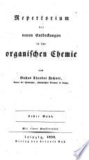 Repertorium der neuen Entdeckungen in der organischen Chemie