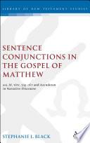 Sentence Conjunctions in the Gospel of Matthew