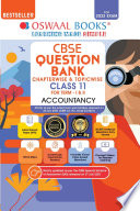 Oswaal CBSE Question Bank Class 11 Accountancy Book Chapterwise   Topicwise Includes Objective Types   MCQ s  For 2022 Exam