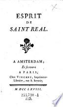 Esprit de Saint Real