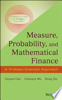 Measure Probability And Mathematical Finance
