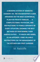 A Modern System of Domestic Cookery