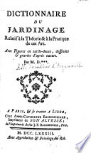 illustration Dictionnaire du jardinage