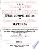 Tractatus de reservatione iuris competentis