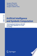 Artificial Intelligence And Symbolic Computation
