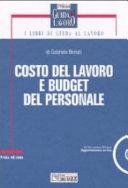 Costo del lavoro e budget del personale  Con CD ROM