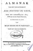 Almanach du Département des Bouches du Rhin, pour l'année ...