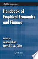 Handbook of Empirical Economics and Finance