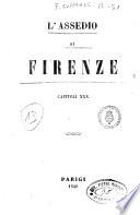 L  assedio di Firenze capitoli 30