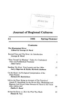 Journal of Regional Cultures