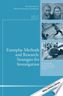 Exemplar Methods and Research  Strategies for Investigation