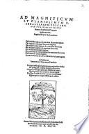 Ad ... Sebastianum Foscarenum ... De subiecto logices etc. etc