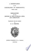 A Dissertation on the Geography of Herodotus
