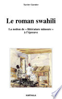 Le roman swahili. La notion de