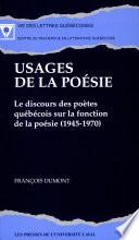 illustration du livre Usages de la poésie
