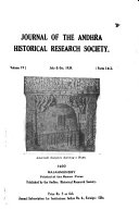 Journal of the Andhra Historical Society