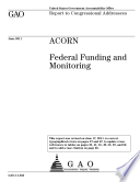 ACORN  Federal Funding and Monitoring