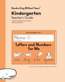 Kindergarten Teacher s Guide