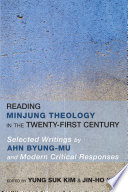 Reading Minjung Theology In The Twenty First Century
