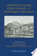 Constructions identitaires et pratiques sociales