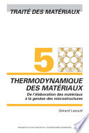 Thermodynamique des matériaux