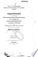 Philological Dissertations
