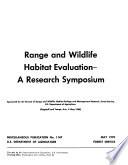 Range and Wildlife Habitat Evaluation